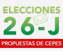 Elecciones 26-J, propuestas de Cepes