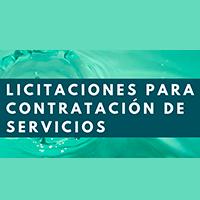 Licitaciones para contratación de servicios