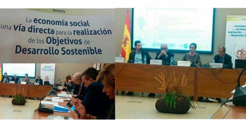 """Expertos piden en la jornada """"La economía social: una vía directa para la realización de los Objetivos de Desarrollo Sostenible"""", que el sector de la Economía social ocupe un lugar destacado en el diseño e implantación de la Agenda de Desarrollo Sostenible 2030"""