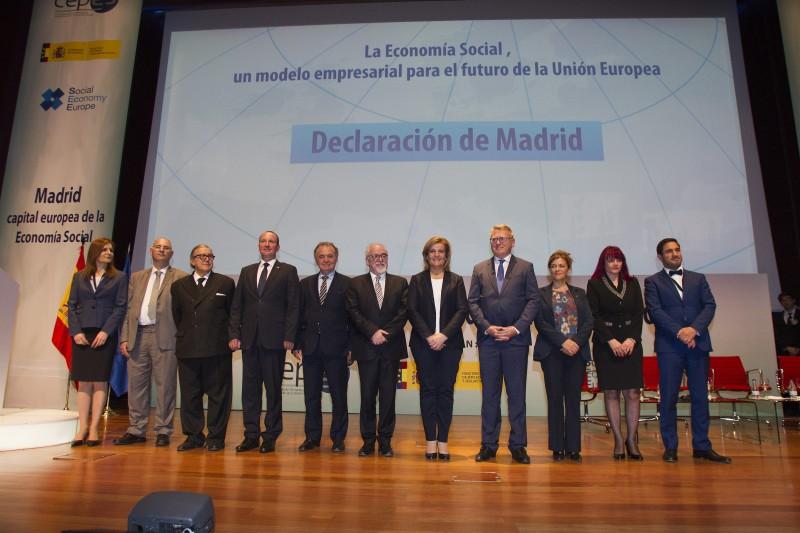 Declaración de Madrid: 11 países europeos reivindican en Madrid un papel protagonista para la Economía Social