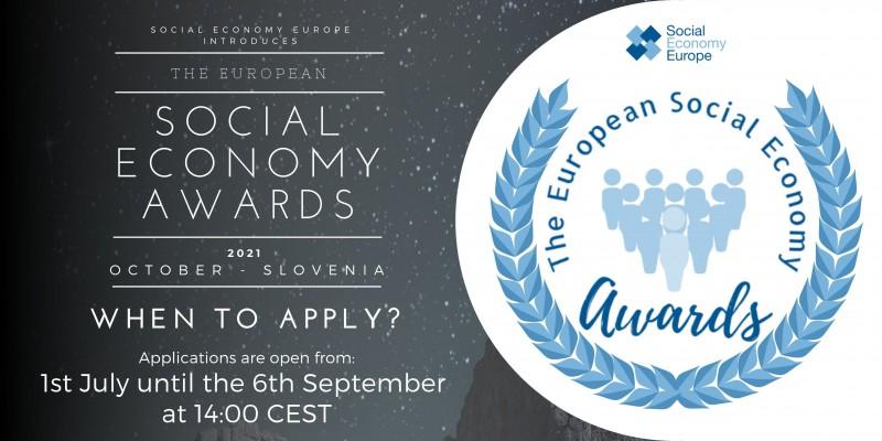 Convocada la primera edición de los Premios Europeos de la Economía Social 2021