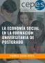 LA ECONOMÍA SOCIAL EN LA FORMACIÓN UNIVERSITARIA DE POSTGRADO: CURSO ACADÉMICO 2020-2021